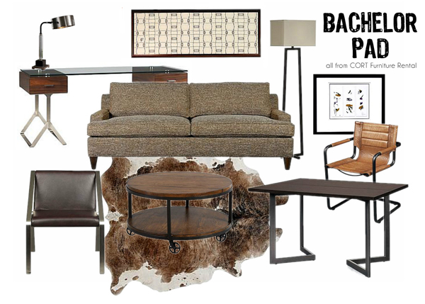 Furniture rental is a great way to get bachelor pad style in your apartment