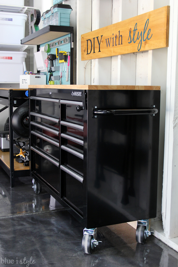 Garage Workbench Organization