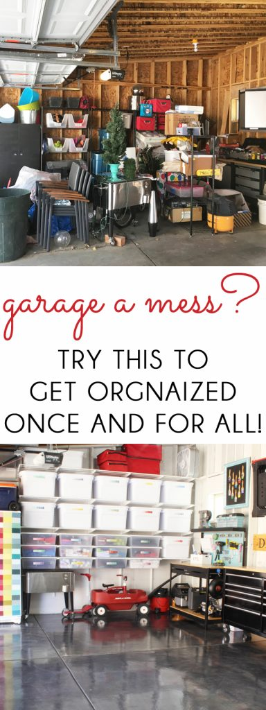 Messy Garage Organization