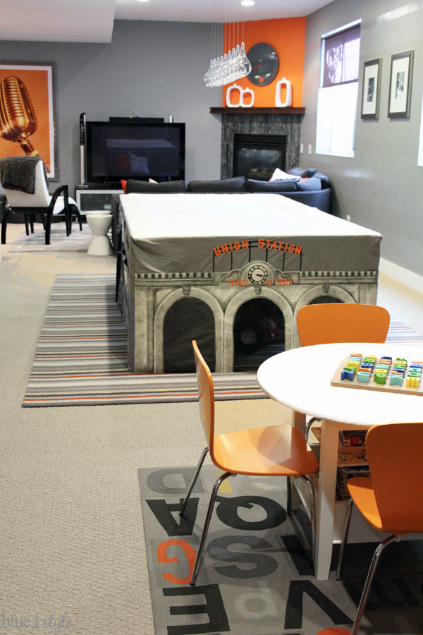 How to make family room function as a playroom
