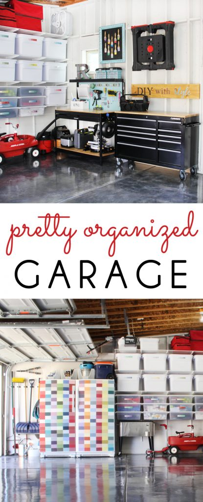 Pretty Organized Garage Makeover