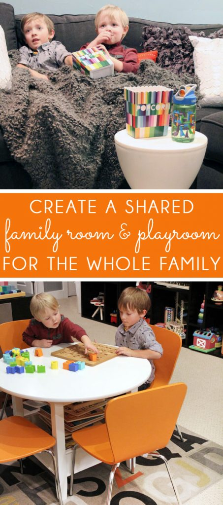 Creating a shared family room playroom