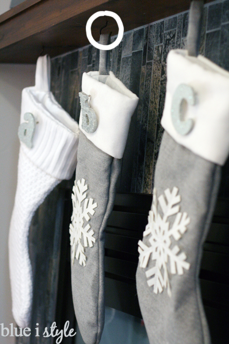 Hang stockings safely from fireplace mantle