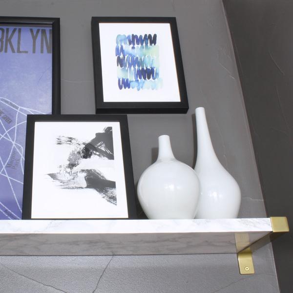 shelf wrapped in marble shelf paper