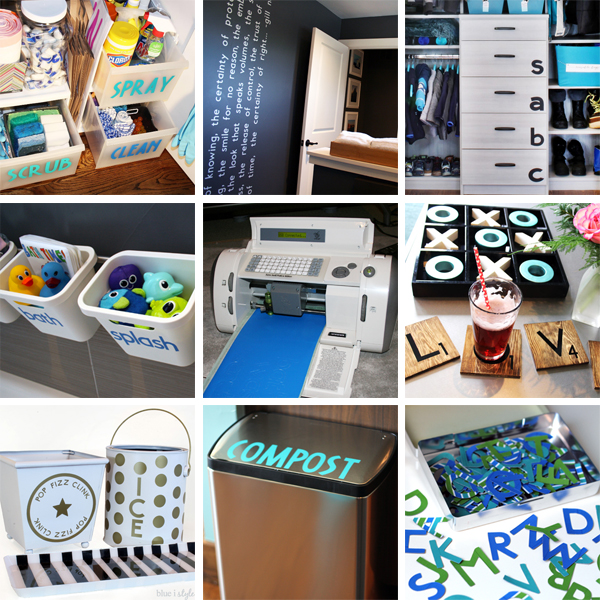 Projects made with the original Cricut electronic cutting machine