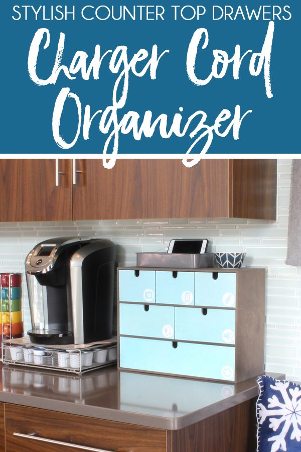 DIY cord organizer drawers