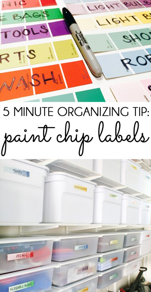 Paint Chip Labels 5 Minute Organizing