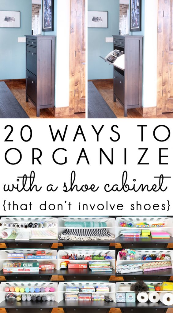 Organize with Ikea Shoe Cabinet