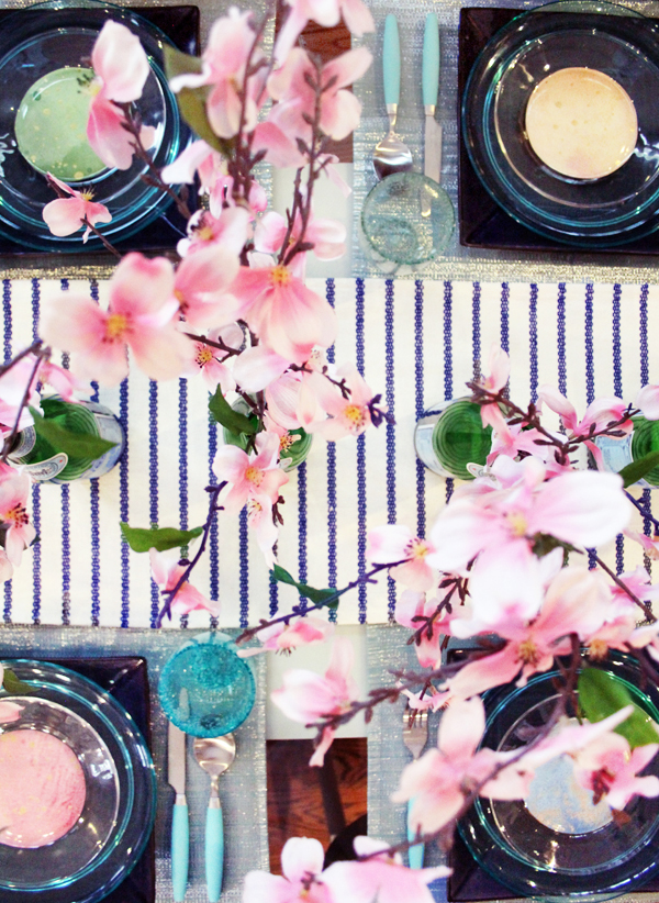 Use Scrapbook paper for budget tablescape