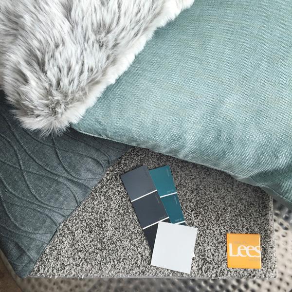 Gray Carpet Selection for Family Room Design