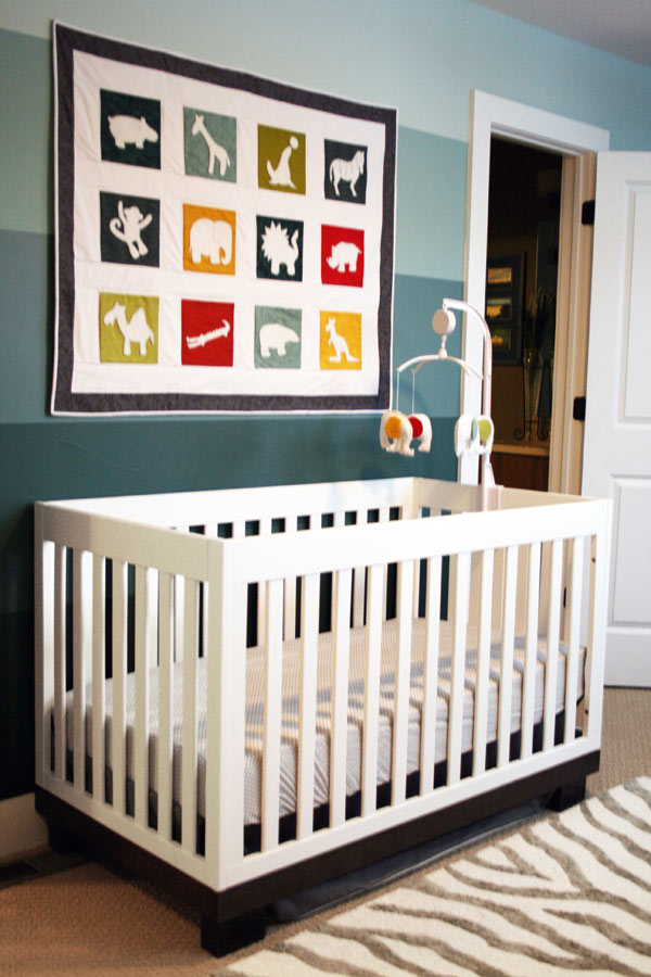 Gender neutral colorful animal themed nursery