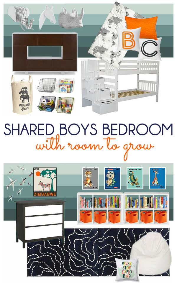 Shared Boys Bedroom Plans