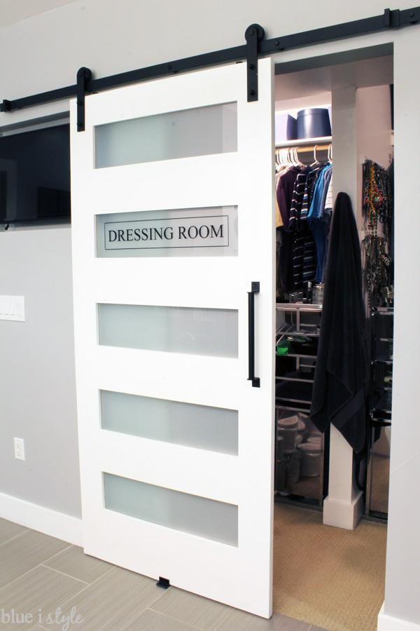 Dressing Room Closet Door Label