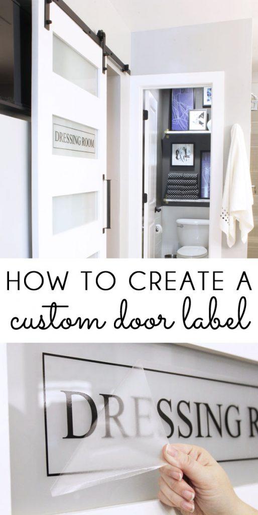 How to Create a Custom Door Label