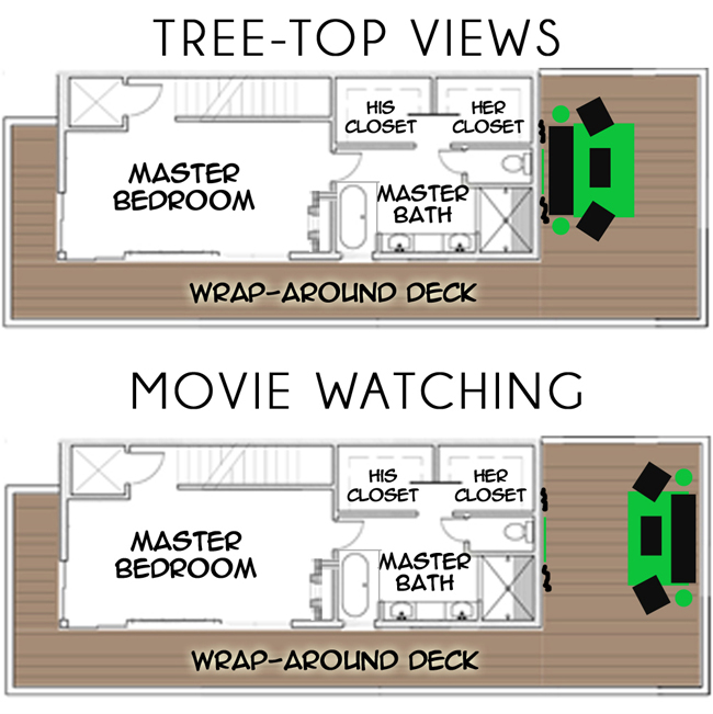 Rooftop Deck and Movie Theater