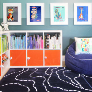 Colorful Bookshelf Makeover Without Paint