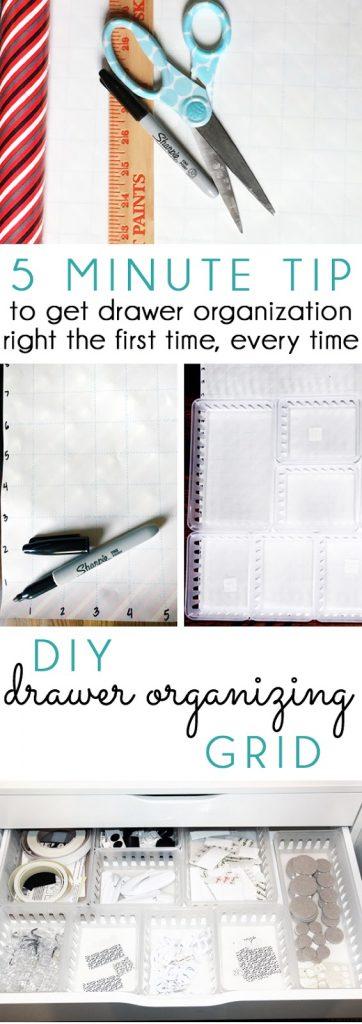 Drawer Organizing quick tip