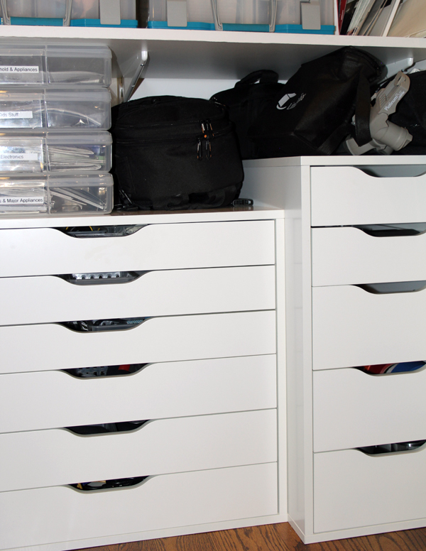 IKEA Alex Drawers in Bottom of Household Closet