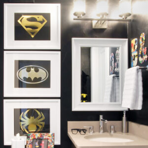 Sophisticated Super Hero Framed Art