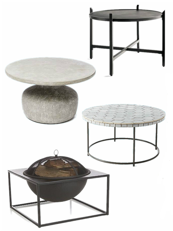modern outdoor coffee tables