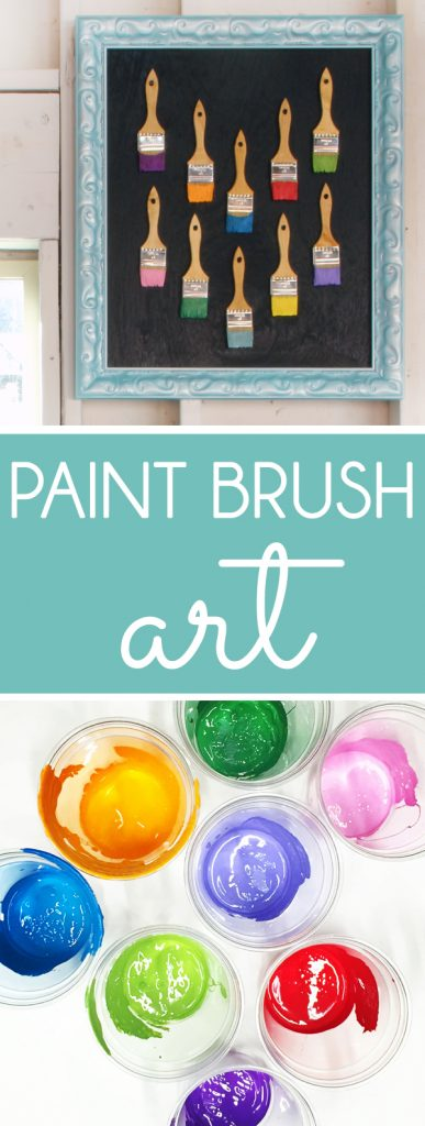 Framed Paint Brushes Garage Art