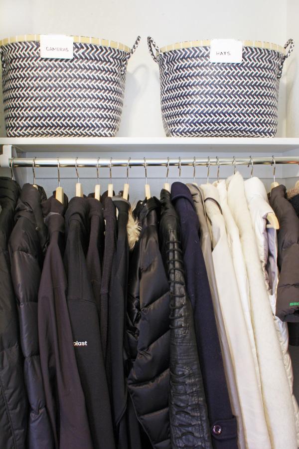 Coat Closet Baskets