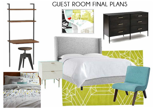 Comfortable Modern Guest Room Plans