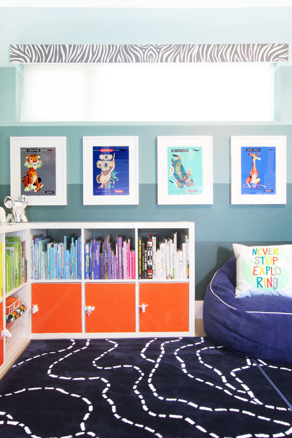 Add bright colored doors to a