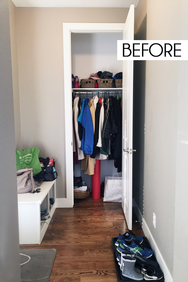 Small Coat Closet Storage Solutions - Blue i Style
