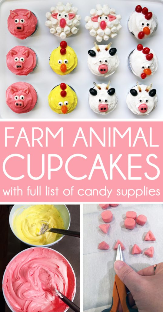 How to make pig cupcakes sheep cupcakes chicken cupcakes cow cupcakes rooster cupcakes