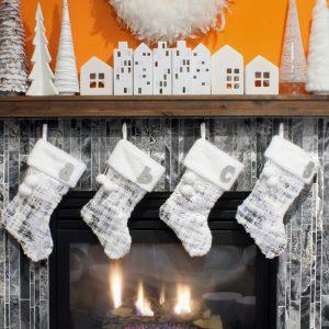 Orange and White Christmas Decor