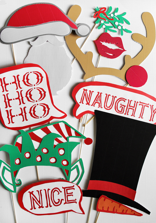 DIY Christmas Photo Booth Props