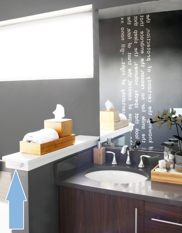 Hive Motion Sensor in Bathroom