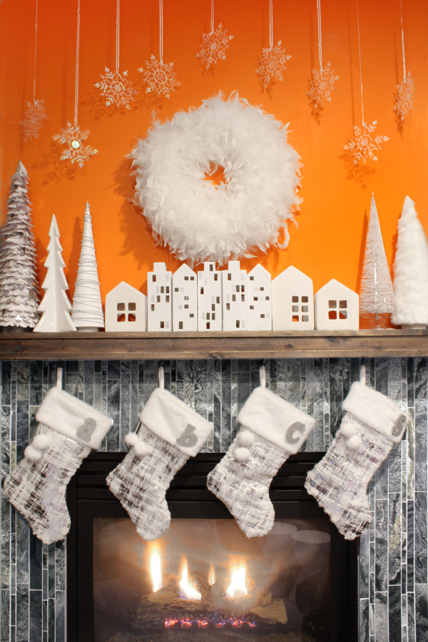 Modern Christmas Mantel Decor