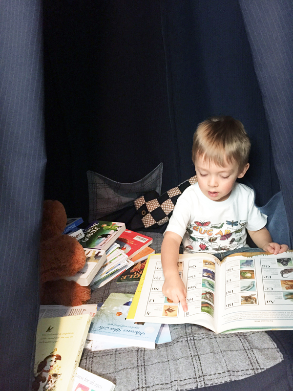 Give kids tents and special nooks for reading books