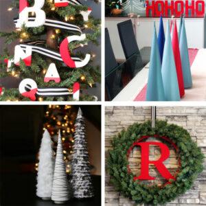 DIY Christmas Trees Ornaments Wreaths