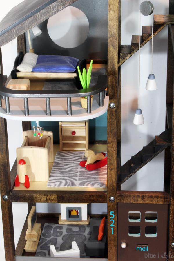 DIY Hape Dollhouse Makeover
