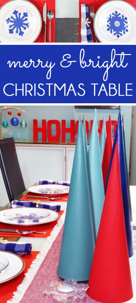 Modern Christmas Table Decor Idea