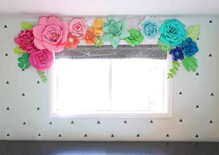 paper flower window valance