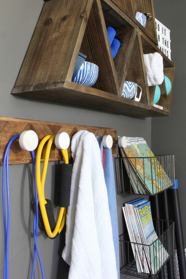 home gym wall organizer
