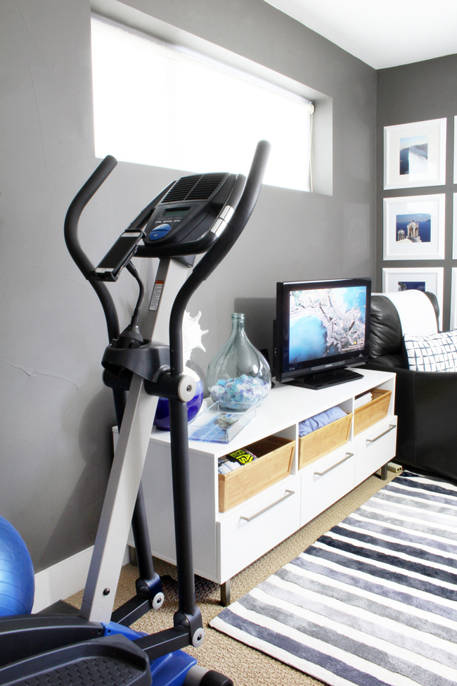 Home Gym in Corner of Guest Room