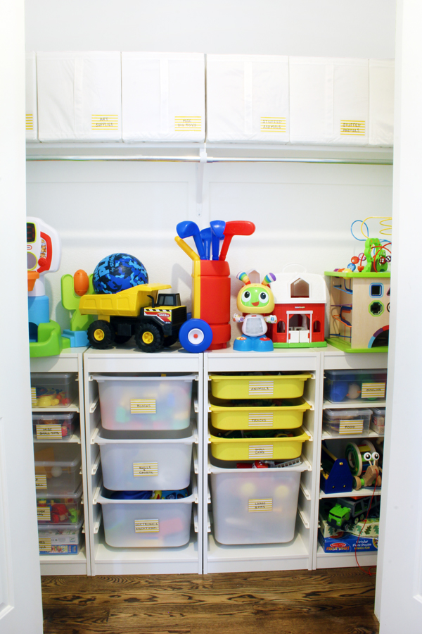 Toy Organizers in Closet