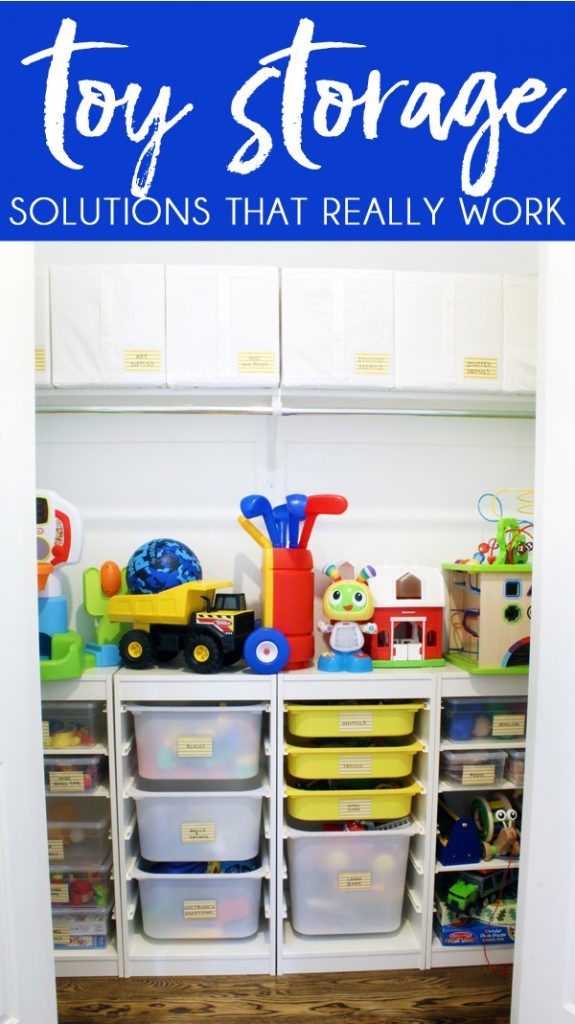 organized closet toy storage