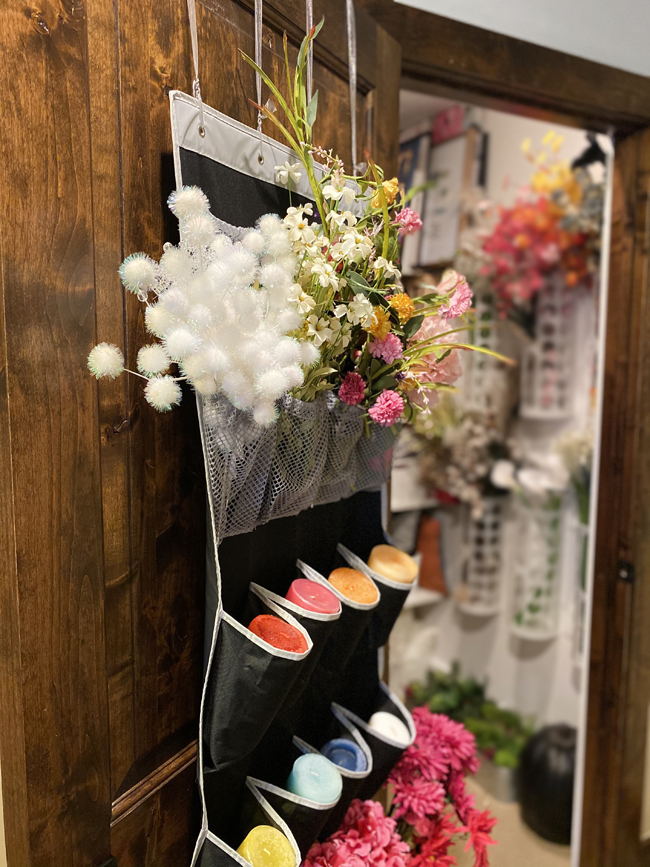 Back of Door Flower & Candle Storage 650