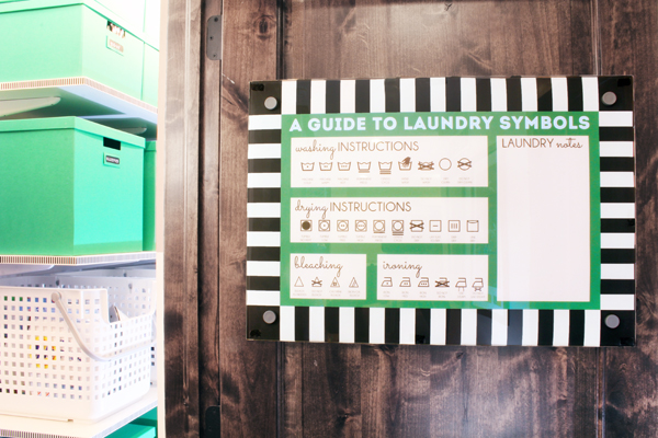 Free printable laundry symbols poster and dry erase memo board