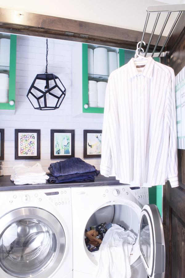 Back of closet door drying rack laundry closet