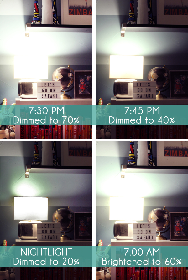 Schedule dimmable light bulbs to ease daylight savings transition
