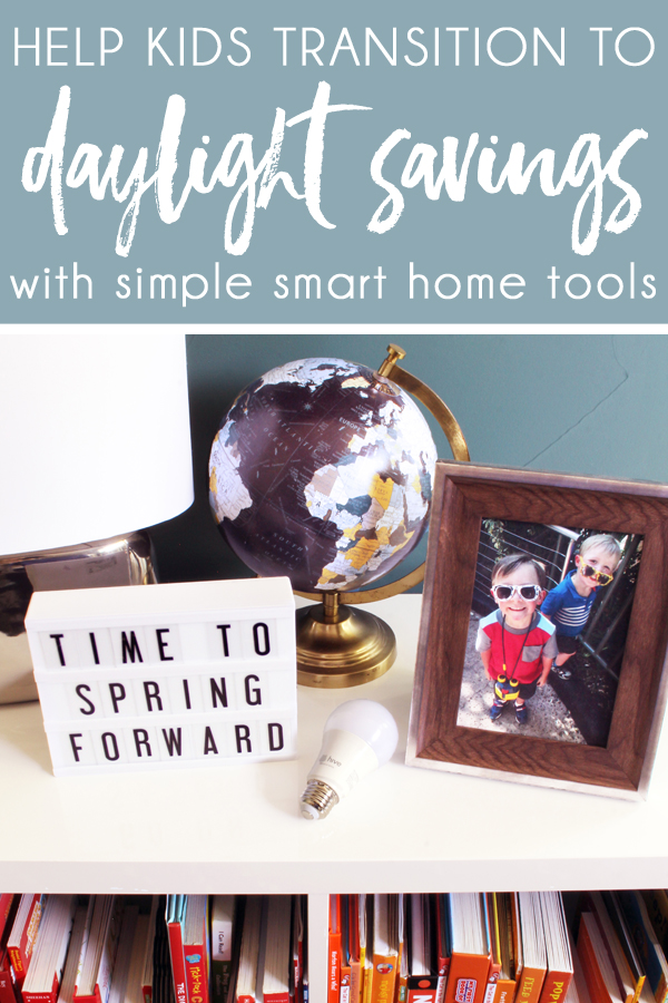 Prepare kids for daylight savings with simple smart home tools