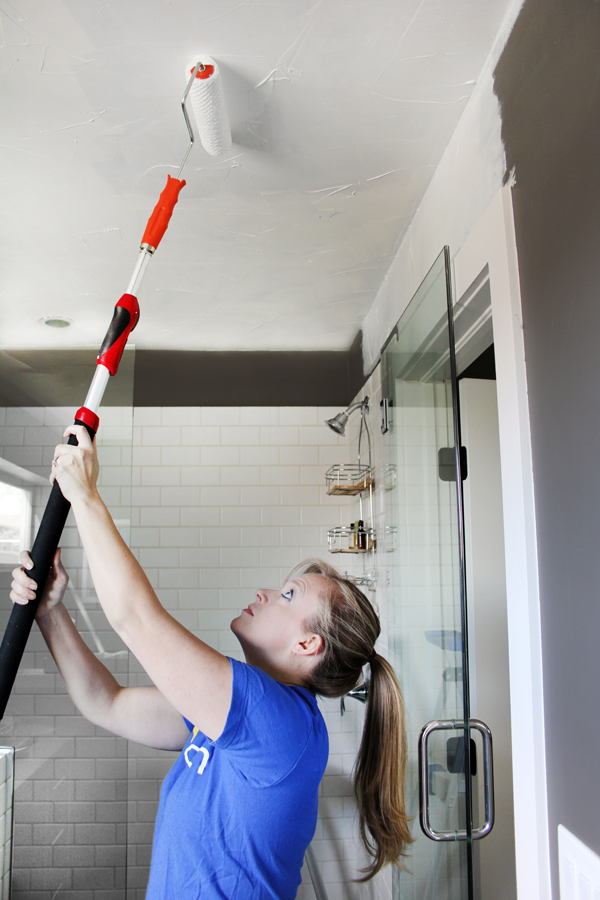Painting Ceiling with Roller