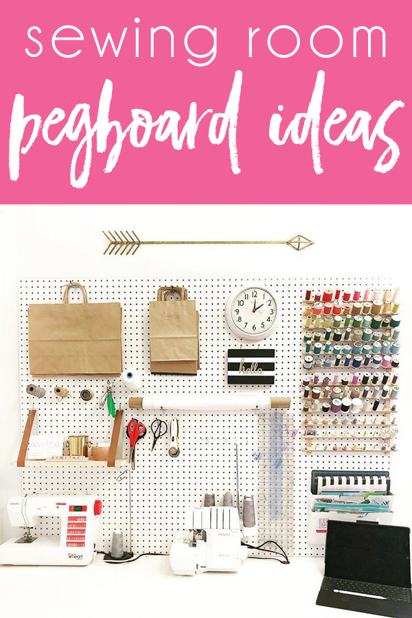 Sewing room pegboard ideas sewing room organization